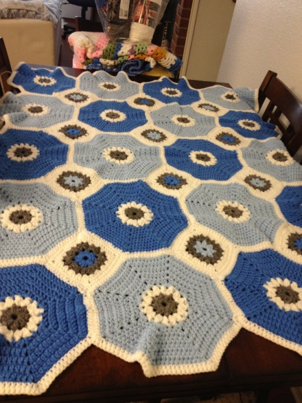My sister's afghan I made for her.